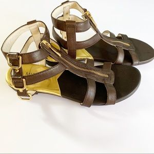 Michael Kors brown&gold gladiator sandals.Size 6.5